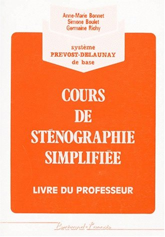 9782735200375: Corrige stenographie simpl.(orang) (French Edition)