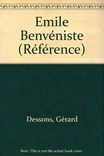 9782735210022: Emile Benveniste