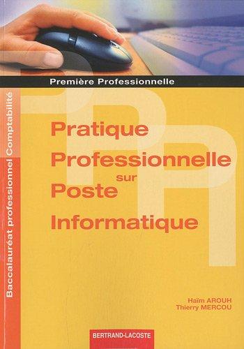9782735222216: Pratique professionnelle sur poste informatique 1e professionnelle Bac pro comptabilité (French Edition)
