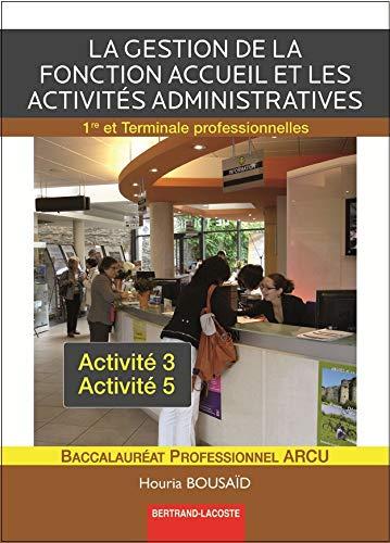 9782735223251: Gestion de la Fonction Accueil et Activ. Administratives