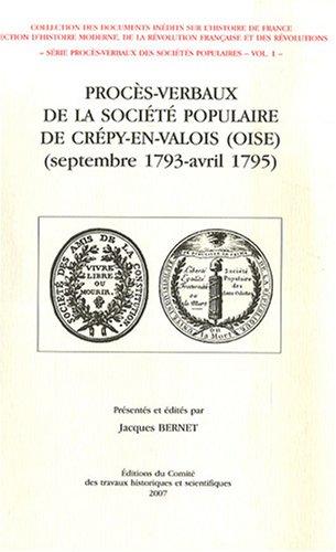 Procès-verbaux de la société populaire de Cré...