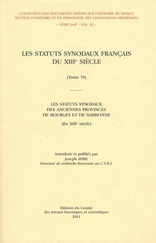 statuts synodaux francais du xiiie siecle: Joseph Avril