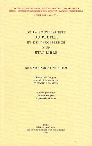 De la souveraineté du peuple et de l'excellence d'un Etat libre (French ...