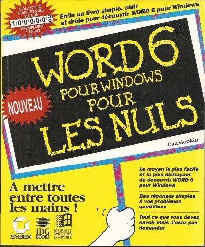 9782736124892: WORD 6 WINDOWS POUR LES NULS