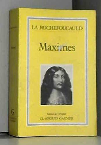 9782737000645: Maximes ([Classiques Garnier]) (French Edition)