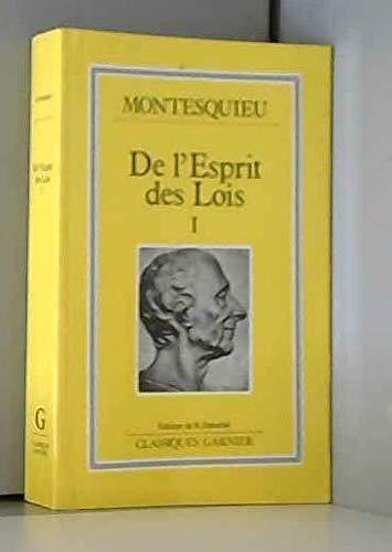 9782737002991: De l'Esprit DES Lois 1 (French Edition)