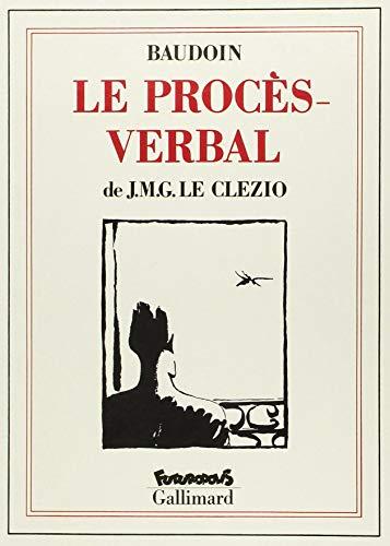 9782737626715: Le Procès-verbal