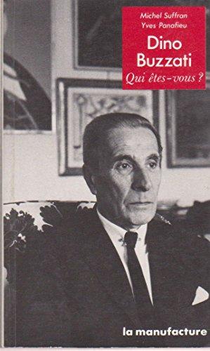 9782737700668: Dino Buzzati (Qui etes-vous?) (French Edition)