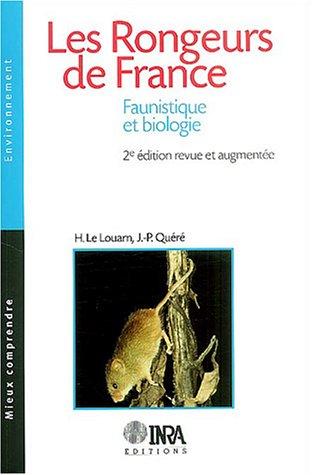 9782738010919: Les Rongeurs de France : Faunistique et Biologie