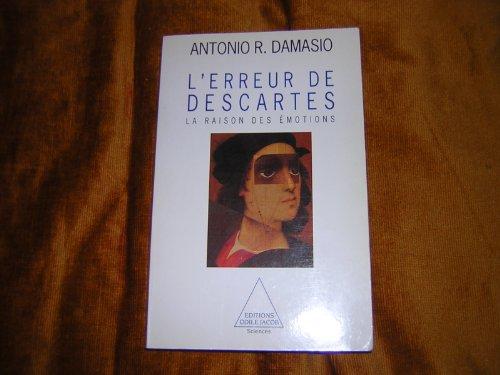 9782738103031: L'erreur de Descartes : La raison des �motions