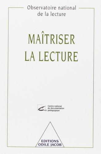 Maîtriser la lecture (2738109012) by Bentolila, Alain; Fayol, Michel; Observatoire national de la lecture (France)