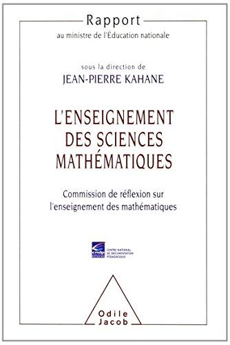 9782738111388: L'Enseignement des sciences mathématiques