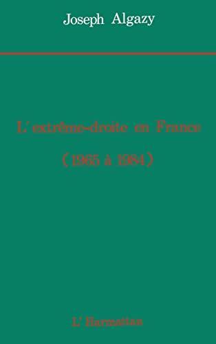 9782738402295: L'extreme-droite en France de 1965 a 1984 (French Edition)