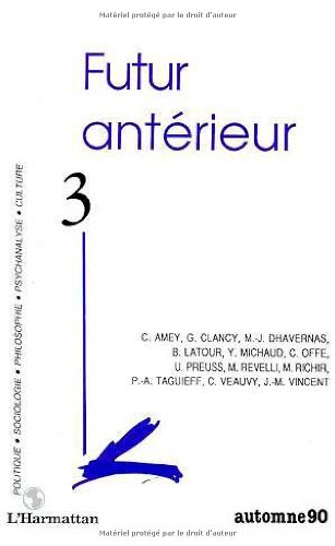 9782738408006: Futur Anterieur 3 (French Edition)