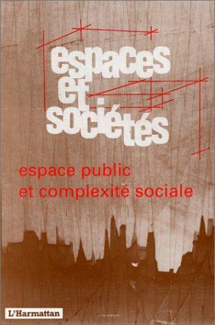 Espaces et sociétés, revue scientifique internationale. N°62-63: COLLECTIF