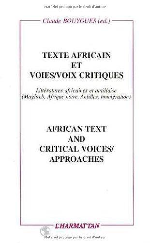 9782738414380: Texte africain et voies/voies critiques : African text and critical voices/approaches