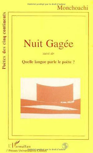 9782738415158: Nuit gagée ; (French Edition)