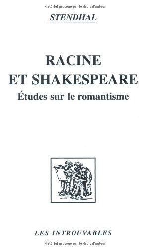 9782738418920: Racine et Shakspeare : Etudes sur le romantisme