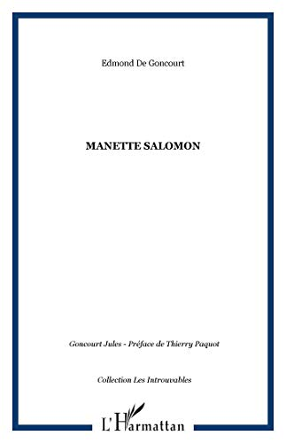 9782738420794: Manette Salomon (Introuvables) (French Edition)