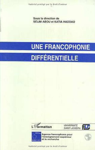 9782738426123: Une Francophonie Differentielle (French Edition)