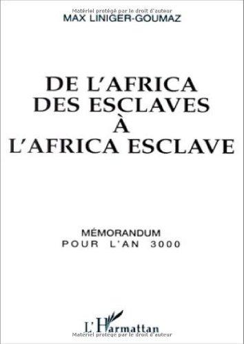 9782738432940: De l'africa des esclaves a l'africa esclave