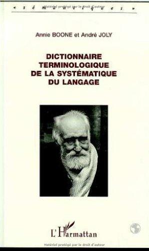 9782738441041: Dictionnaire terminologique de la systématique du langage (Sémantiques) (French Edition)