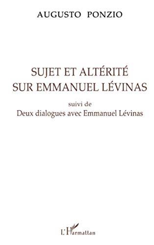 9782738441393: Sujet et altérité sur Emmanuel Lévinas