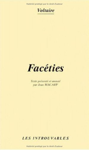 9782738468154: Faceties (Collection Les Introuvables) (French Edition)