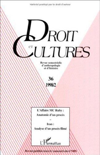 9782738471154: Droit et cultures, N° 36 : L'AFFAIRE MCRUBY