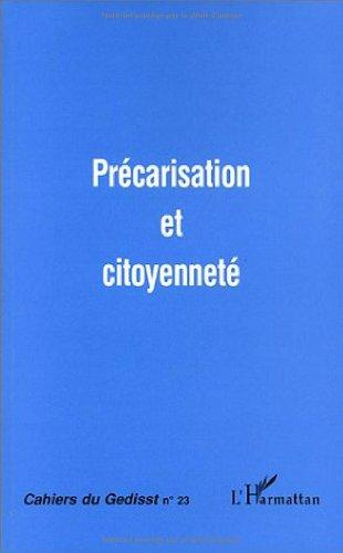 9782738475725: Precarisation et citoyenneté (French Edition)