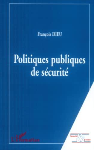 9782738480392: Politiques publiques de sécurité