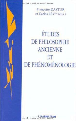 9782738482303: Etudes de philosophie ancienne et de phénoménologie