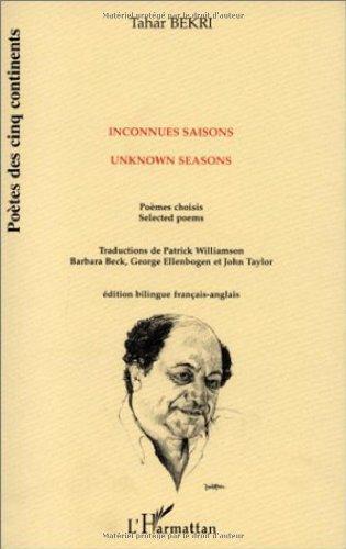 9782738484444: Inconnues saisons - Unknown Seasons - poèmes choisis (édition bilingue français-anglais)
