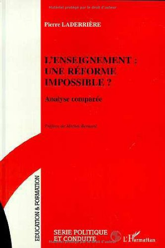 9782738486523: L'enseignement : une réforme impossible ?. Analyse comparée