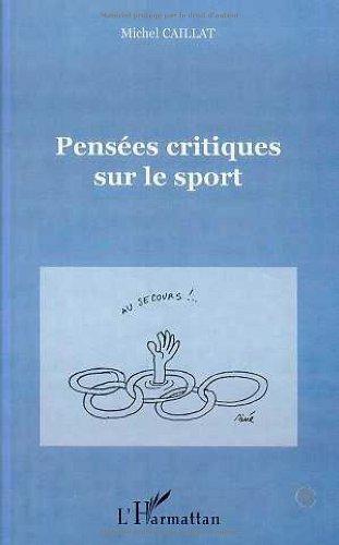 9782738490339: Pensees critiques sur le sport (French Edition)