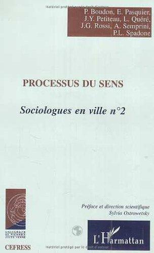 9782738494931: Sociologues en ville, 2 : Processus du sens