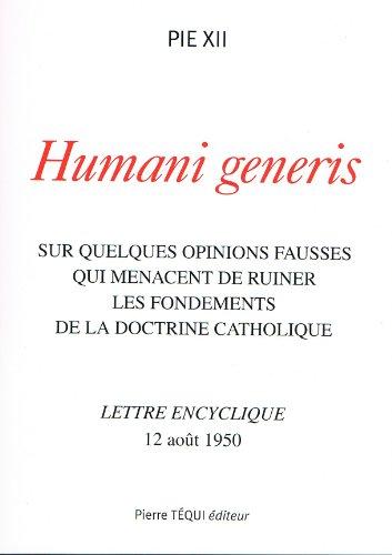 9782740314746: humani generis