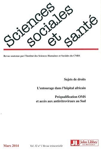 Revue sciences sociales et sante vol 32 n1 2014: Collectif