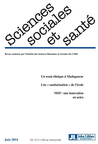 Sciences Sociales et Santé, Volume 32 N° 1/2014 :