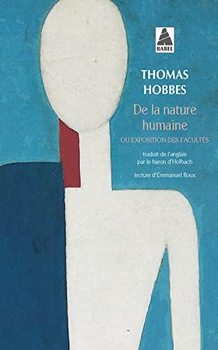 De la nature humaine, ou, Exposition des: Hobbes, Thomas; Roux,