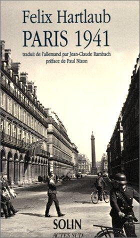 PARIS 1941: HARTLAUB FELIX