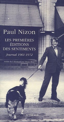 PREMIERES EDITIONS DES SENTIMENTS -LES-: NIZON PAUL