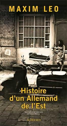 9782742792726: Histoire d'un Allemand de l'Est (French Edition)