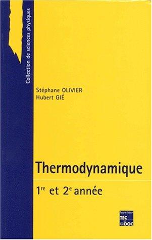 9782743001339: Thermodynamique: Première année et deuxième année