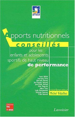 APPORTS NUTRITIONNELS CONSEILLES POUR LE: VIDAILHET MICHEL