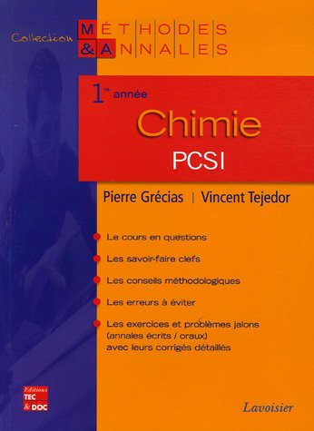 9782743008529: Chimie PCSI 1e année