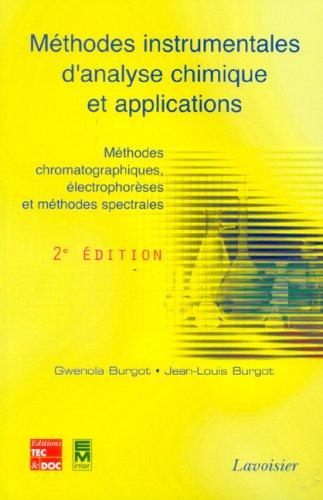 9782743008789: methodes instrumentales analyse chimique et applications 2e ed.
