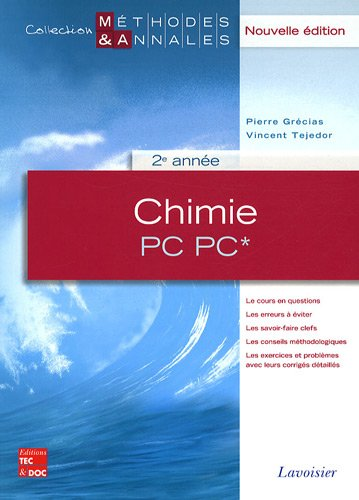9782743011390: Chimie PC PC* 2e année (French Edition)