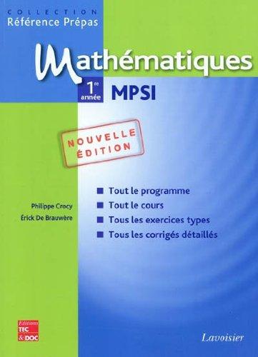 9782743012144: Mathématiques 1re année MPSI
