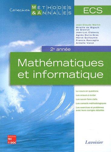 9782743013813: Mathématiques et informatique ECS 2e année (French Edition)